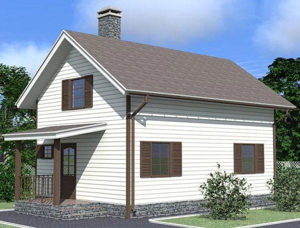 Каркасный дом 6x8 с мансардой 100кв.м