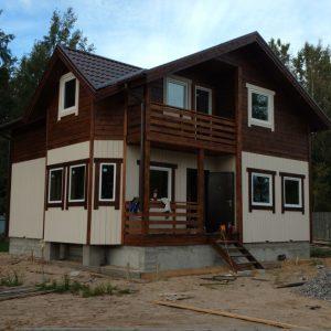 Каркасный дом Судаковское озеро 9x9.5 157кв.м