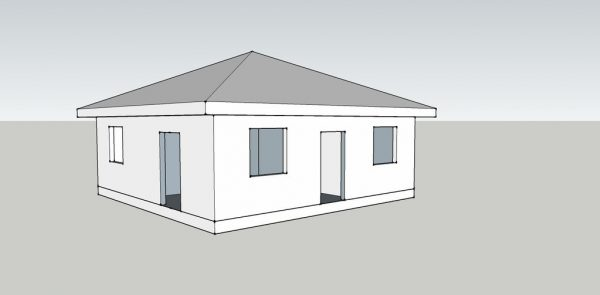 Проект Солнечный 8x8 64кв.м
