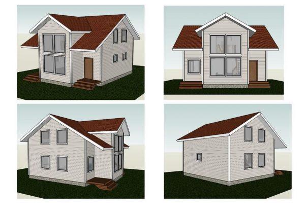 Каркасный дом 8x9 155кв.м.