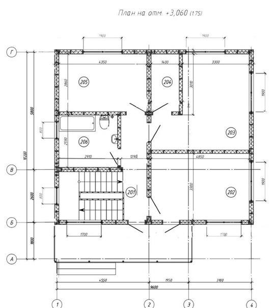 Каркасный дом 8×10 160кв.м