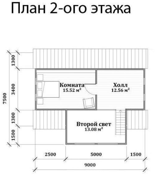 Каркасный дом 7x9 120кв.м