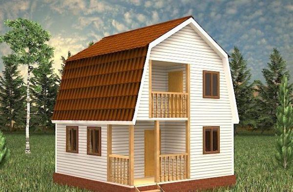 Каркасный дом 6x8 90кв.м
