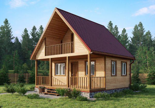 Каркасный дом 6x6 70кв.м