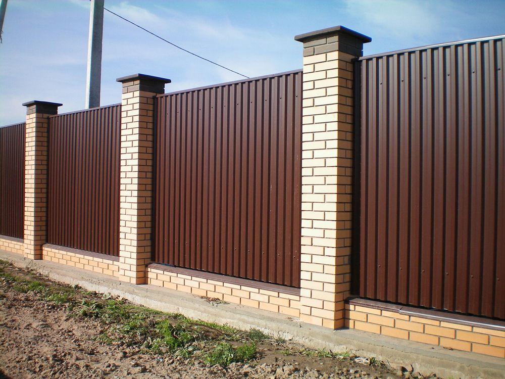 Забор из профнастила от 3500 рублей метр погонный
