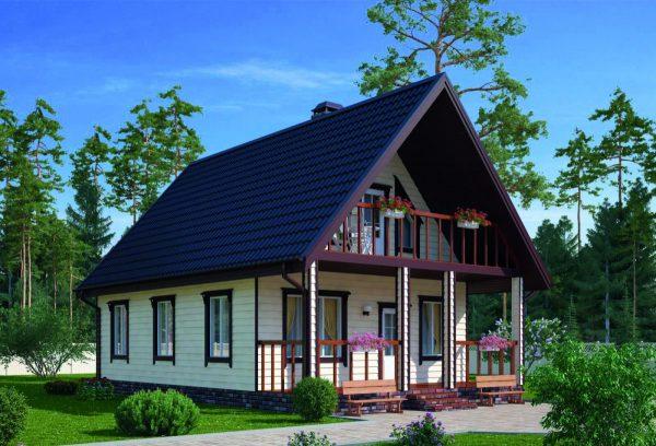 Каркасный дом 6x8 73кв.м