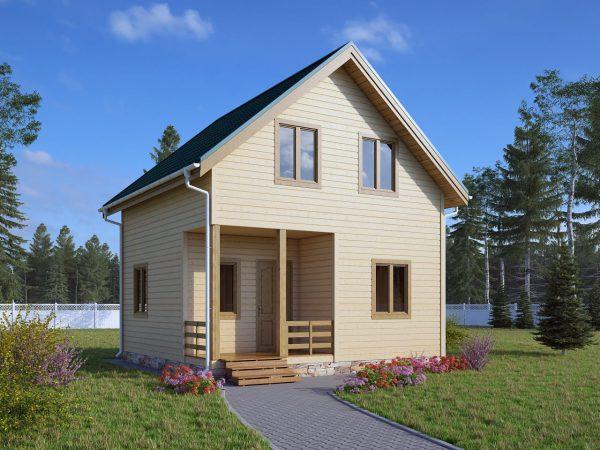 Каркасный дом 6x8 72кв.м