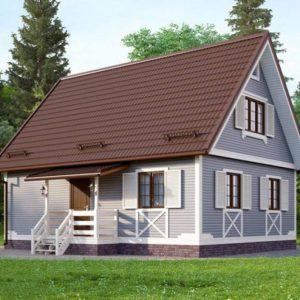 Каркасный дом 7x9 126кв.м