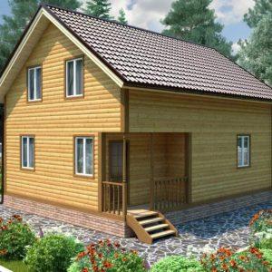 Каркасный дом 8x8 120кв.м