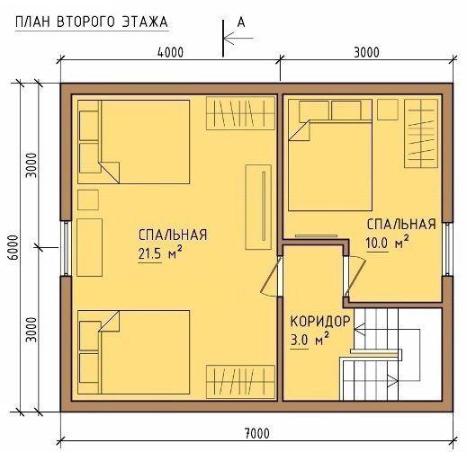 Каркасный дом 6x7 84кв.м