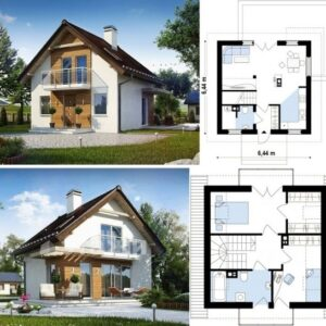 Каркасный дом 6x6 72кв.м