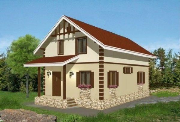 Каркасный дом 7x10 140кв.м