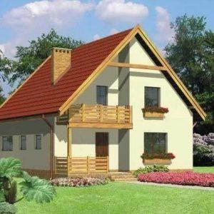 Каркасный дом 8x10 160кв.м