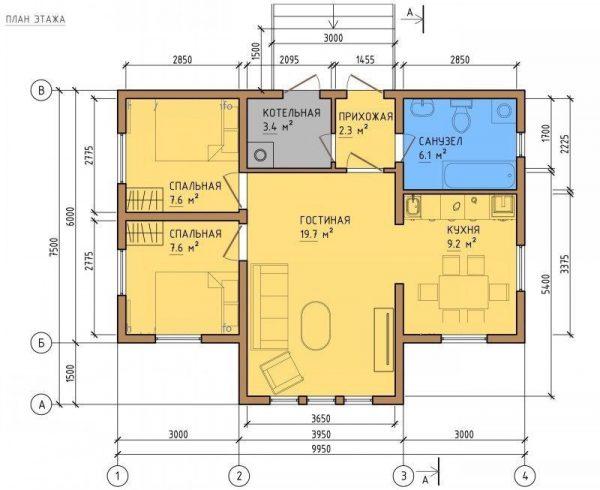 Каркасный дом 8x10 80кв.м