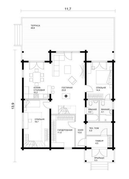 Каркасный дом 165м2