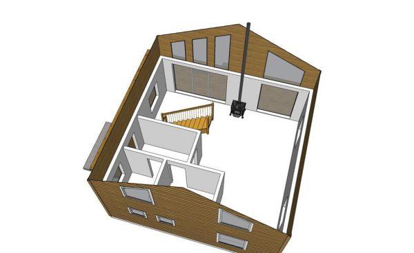 Каркасный дом 7х8 125кв.м