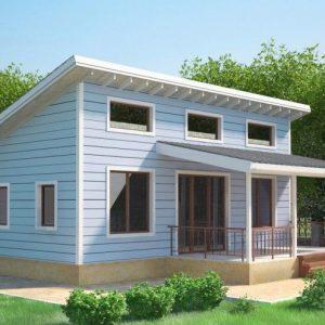 Каркасный дом 9,5х9,5 82кв.м