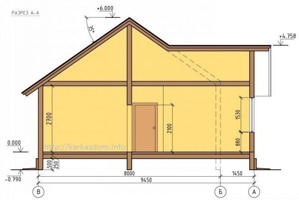 Каркасный дом 9х10 90кв.м