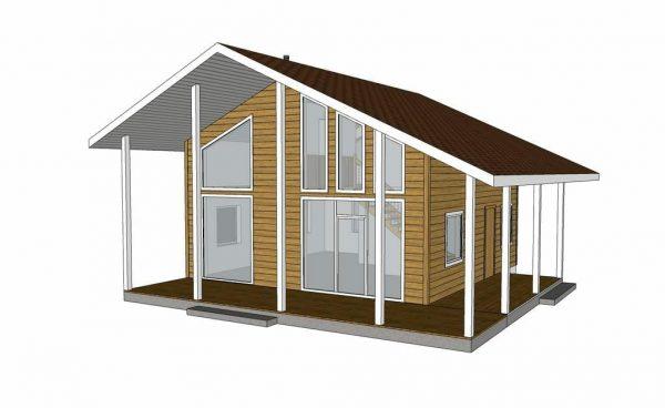 Выборгский-2 дом 8х8 + терасса 3м