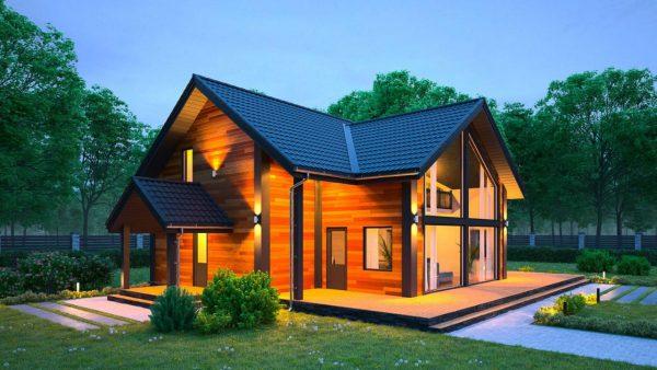 Каркасный дом 160M2