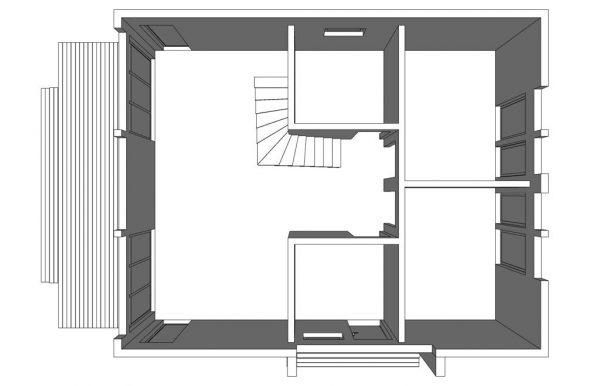 Каркасный дом 10х8 + терраса 2,5 метра