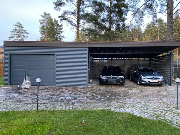 Навес гараж 6х12